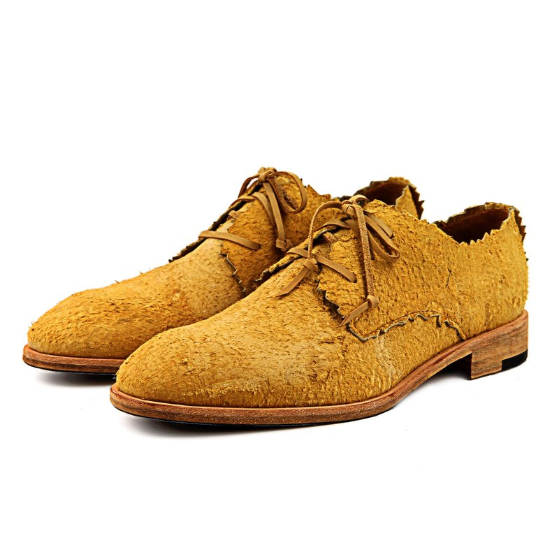 RobinHood M1169 DesertYellow leather Derby shoes