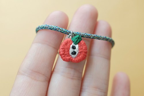 by.dorisliu emoji bracelet  little apple