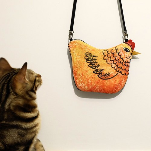 Big chicken hand hand messenger bag carrying bag