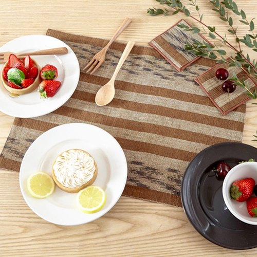 Christmas gifts / exchange gifts Japanese Nordic handmade Chinese vintage ethnic handmade fresh simple linen Burlap placemats coaster tea seats tea cloth