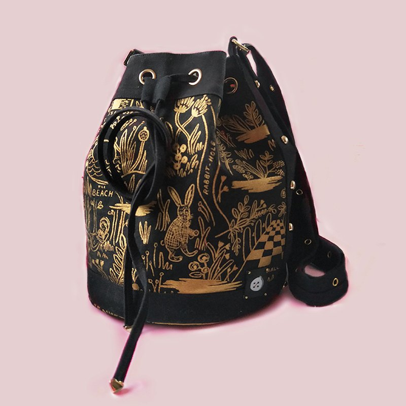 Alice Series Upgraded Exclusive Bucket Bag With Adjustable Bag With Original Gold HOPOTOTO