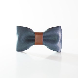 Leather Bowtie - Blue n Brown