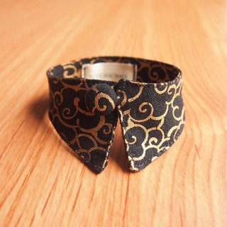 Hot gold Xiangyun dog cat button collar