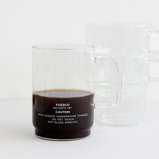 BOROSILICATE GLASS MUG Shallow Stacking Glass Mug