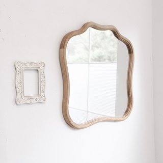 There is a bit of Baroque vintage oak mirror