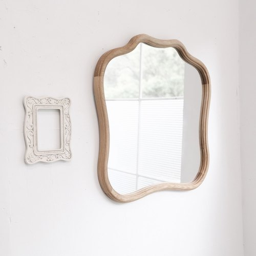 There are so retro Baroque oak mirror