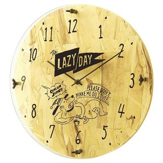 Holiday Clock - Micro Industrial Doodle Silent Clock Wall Clock (Natural)