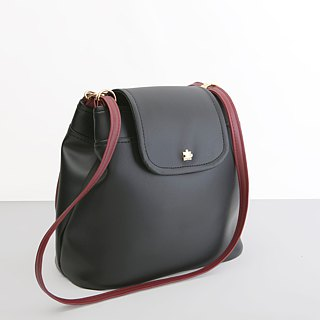CLM ring buckle bag _ black red