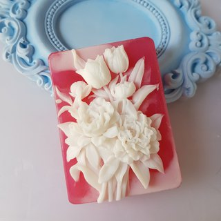 Blooming garden no. 1, Handmade Soap Scented with Jo Malone Pear and Freesia