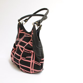 Vertical embroidery · Granny bag