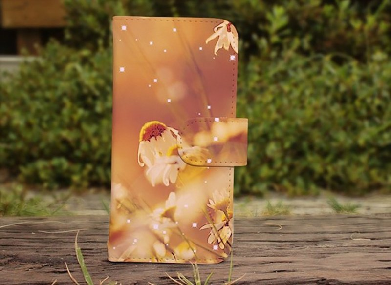 【All models compatible】 Free shipping 【notebook type】 backlighting flower garden smart case