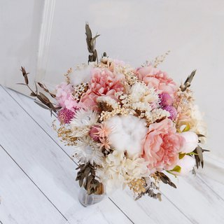 Amor Floral - artificial silk flower mixed dry bouquet bridal bouquet / wedding photography (B)