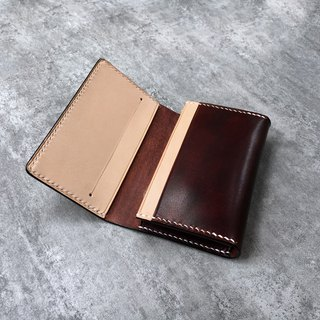 Brown leather handmade business card holder / business card holder / card package