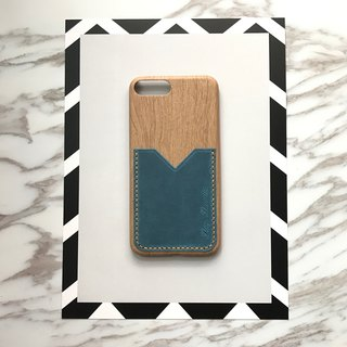 Phone case with leather pocket