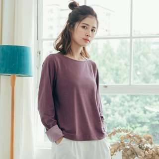 Breeze small blow color shirt - iris purple