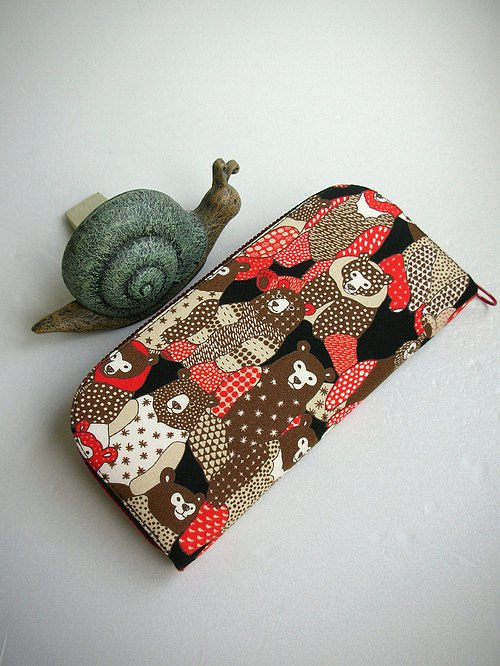 "Japanese pictorial series ""spot bear / black"" - long clip / wallet / purse / gift"