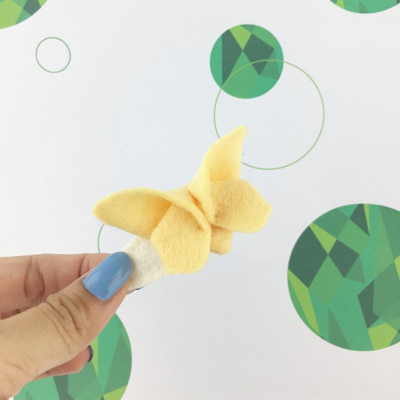 Butterfly three-dimensional hairpin(Yellow color)