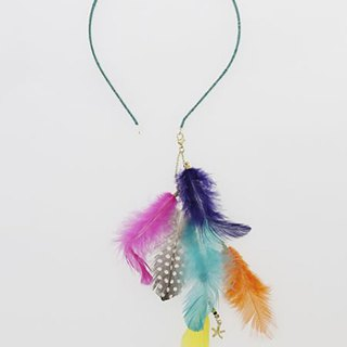 Pre-ordered color feather decorative headband (two colors) IJCZ8251