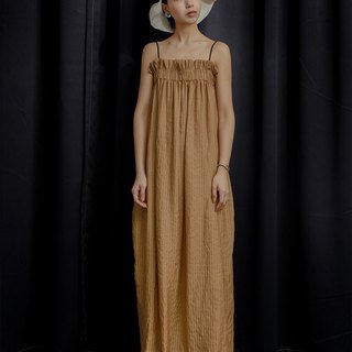 Beige Camisole Draped Maxi Dress