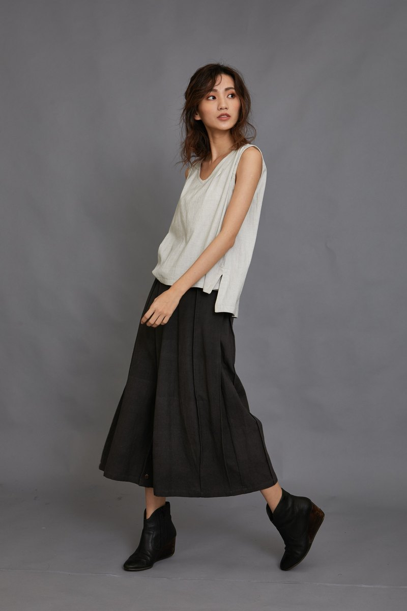 skirt pants-black-fair trade