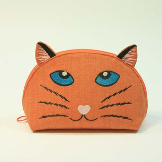 Embroidery Shell Makeup Pack 02 - Cat Head