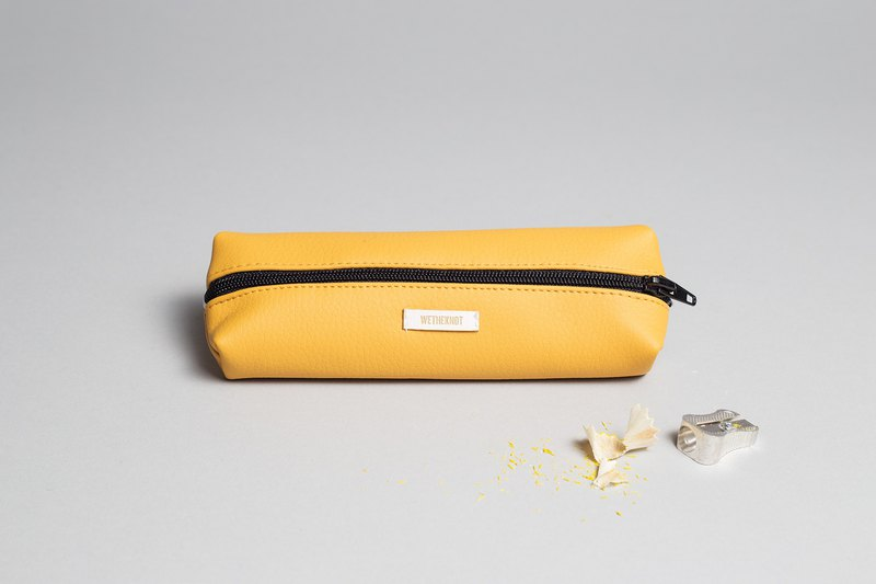 Pencil case in mustard yellow