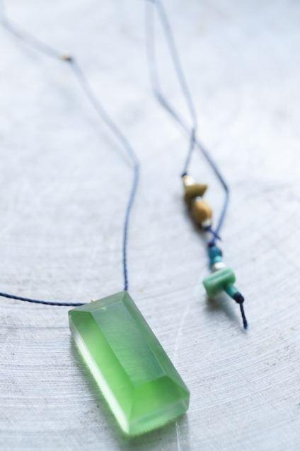 Chika Sato exclusively △ ▶ Umino glass pendant