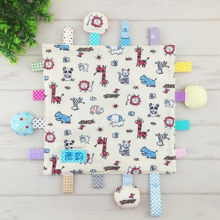 Crayon animals are available in 2 models. Cotton ball X cotton cloth label paper comforting towel (free embroidered name)