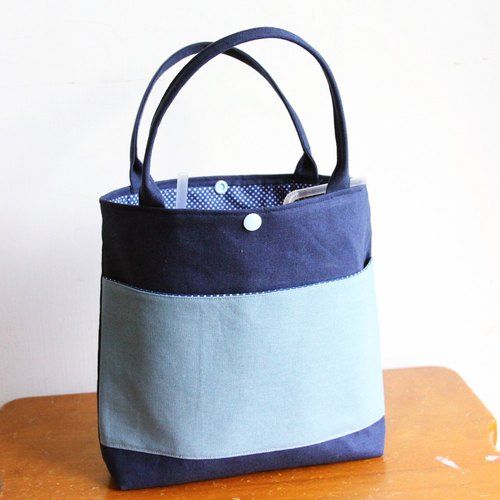 Wen Qing elegant and practical bag ~ blue bubble convenient bag hand cup bag children's bag mobile phone bag travel bag lunch package