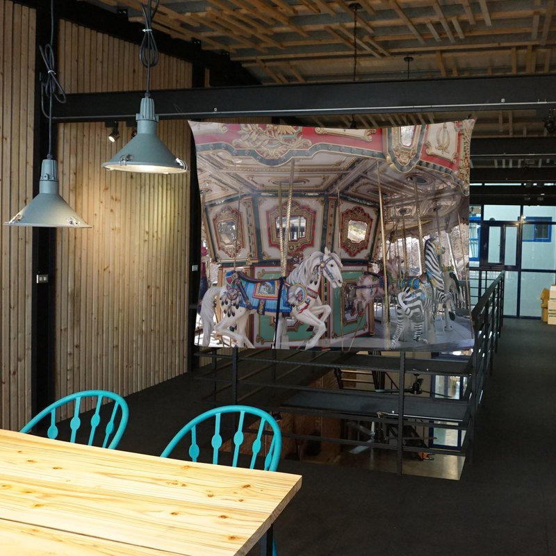 免費訂製你的專屬壁幔 家飾 布幔 BM06 旋轉木馬 Wall Tapestry