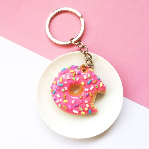 Keychain Strawberry Donut Shop.