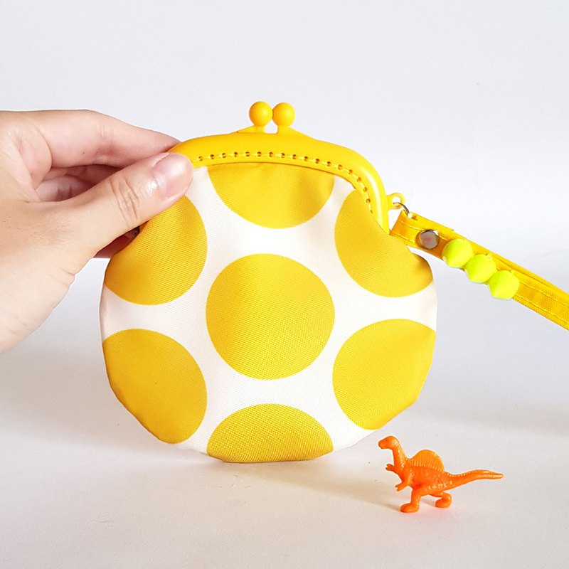 Color dinosaur egg / plastic mouth gold coin purse / increase / yellow / with Christmas packaging
