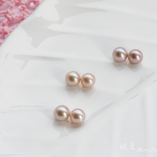 925 sterling silver x natural freshwater pearls [simple temperament earrings] (can be gold ear or pure silver ear clip)