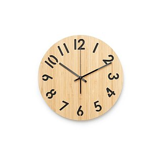 LOO Rotated Numbers Wall Clock Black