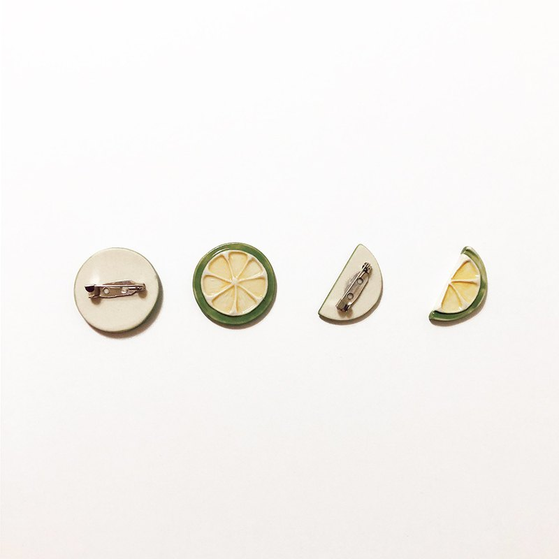 a moment lemon ceramic pin