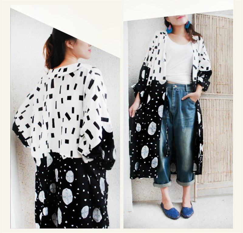 Long coat tassel blouse * flying bird