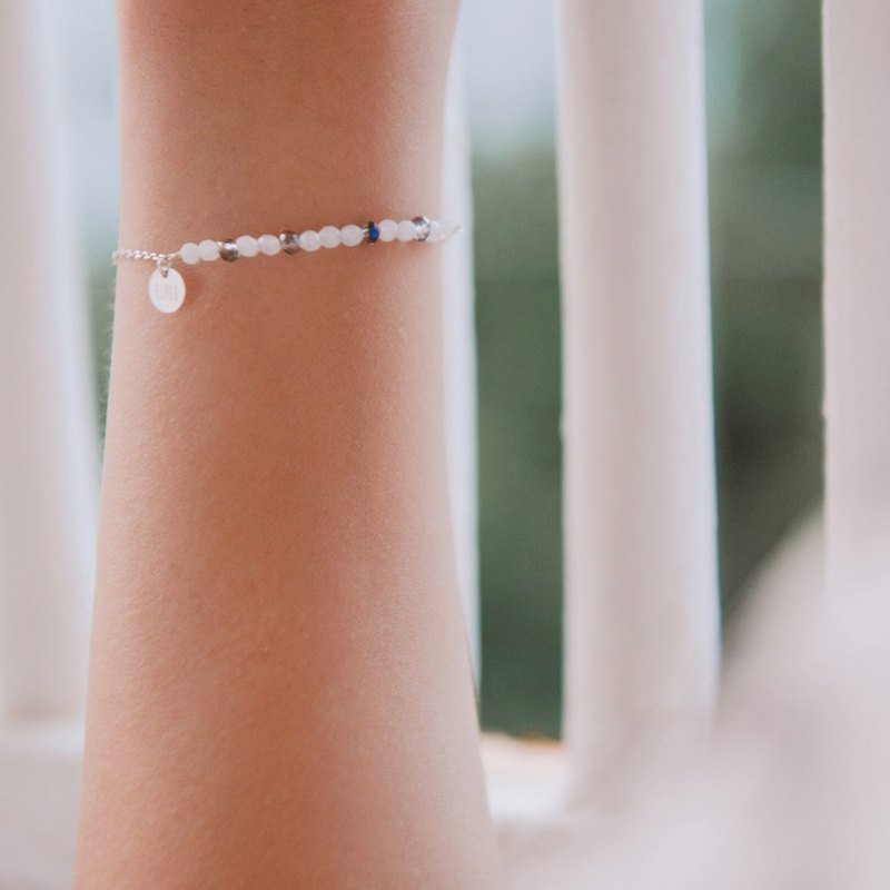 Mood bracelet / sterling silver-pure