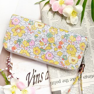Japan Liberty waterproof cloth. Sunshine garden. Waterproof long clip / wallet / wallet / purse