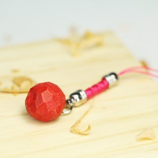 Cute wooden round apple charm (luxury)--woodcut--handmade - hand made [optional color]