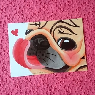 Pug Postcard-I LOVE YOU