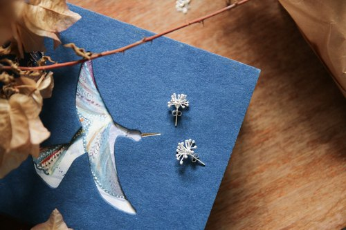 Brilliant fireworks sterling silver earrings