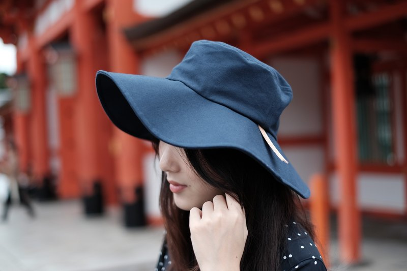 FLOPPY HAT - Navy blue