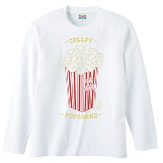[Long sleeve T-shirt] Creepy Popcorns