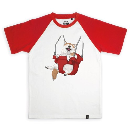 AMO®Original canned cotton T-shirt/AKE/The SHBA On The Red Swing