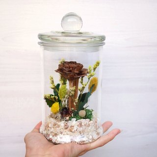 Flower Ritual Possession - Autumn fairy tale fir rose glass jar dry flower