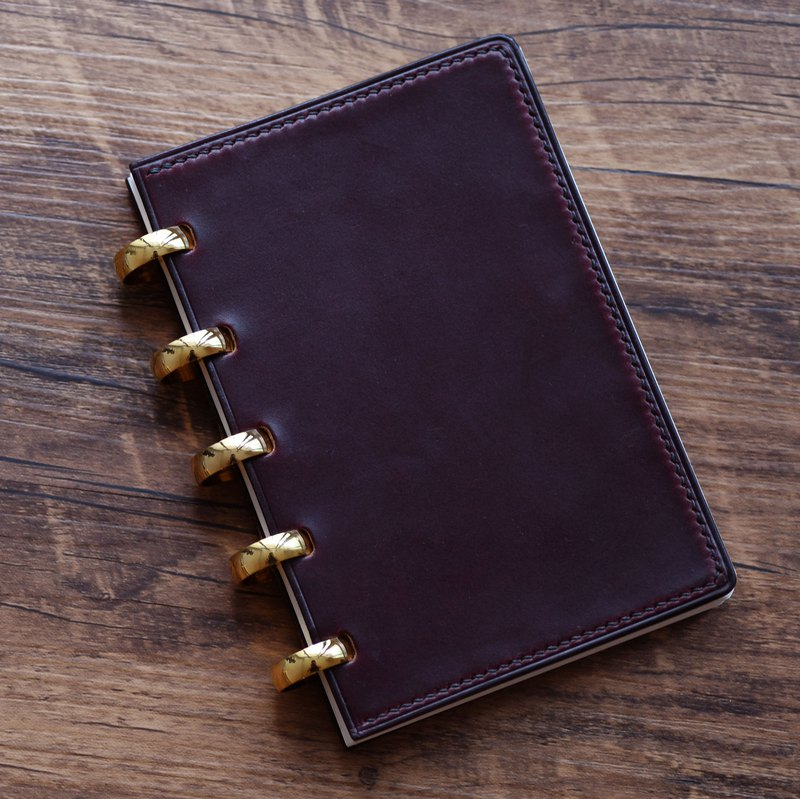 Handmade leather notebook custom leather gift Wenqing