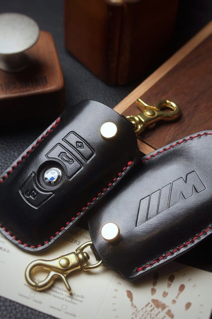 [Poseton boutique handmade leather goods] BMW BMW car key holster hand-made