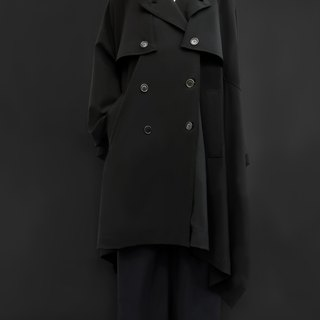 Trench Cape / 100% Virgin Wool /  Made in Italy