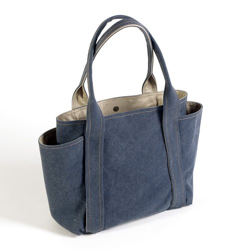 Magnetic button / washable canvas universal tool bag - gray blue (medium)