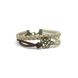 Handmade Double Braided Rose Bracelets – vintage brown  limited